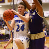 3-11-17<br /> Tipton vs New Haven boys basketball regional semifinal<br /> Tipton's Carson Dolezal looks to the basket for a shot.<br /> Kelly Lafferty Gerber | Kokomo Tribune