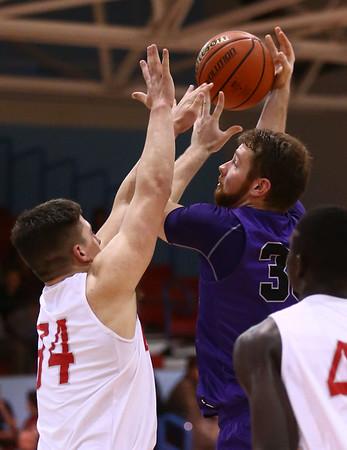 2-28-17<br /> Northwestern vs West Lafayette boys basketball<br /> NW's Trey Richmond shoots.<br /> Kelly Lafferty Gerber | Kokomo Tribune