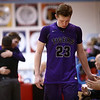 2-28-17<br /> Northwestern vs West Lafayette boys basketball<br /> Peyton Hawk hangs his head as he goes to the bench after playing basketball for the last time for Northwestern.<br /> Kelly Lafferty Gerber | Kokomo Tribune