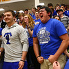3-11-17<br /> Tipton vs FW Luers regional championship. Tipton lost 54-50 in double overtime.<br /> The student section celebrates when the game goes to its first overtime.<br /> Kelly Lafferty Gerber | Kokomo Tribune