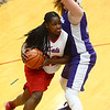 3-9-17<br /> 8th grade girls basketball<br /> Kokomo Red's Sanighia Balantine dribbles around Northwestern's defense.<br /> Kelly Lafferty Gerber | Kokomo Tribune