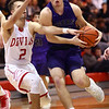 2-28-17<br /> Northwestern vs West Lafayette boys basketball<br /> NW's Noah Dowden dribbles down the court.<br /> Kelly Lafferty Gerber | Kokomo Tribune