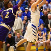 3-11-17<br /> Tipton vs New Haven boys basketball regional semifinal<br /> Tipton's Tyler Slack shoots.<br /> Kelly Lafferty Gerber | Kokomo Tribune