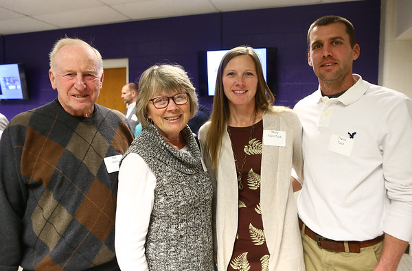 From left: Joe Klein, Lynda Klein, Mary Klein Tuck, and Travis Tuck at the Northwestern High School Hall of Fame induction ceremony on March 10, 2017.<br /> Kelly Lafferty Gerber | Kokomo Tribune