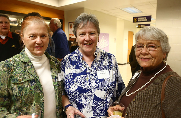 From left: Judy Welsh, Pat Lawson, and Dixie Keller at the Northwestern High School Hall of Fame induction ceremony on March 10, 2017.<br /> Kelly Lafferty Gerber | Kokomo Tribune