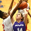 3-9-17<br /> 8th grade girls basketball<br /> NW's Caraline Brandt puts up a shot.<br /> Kelly Lafferty Gerber | Kokomo Tribune