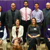 Northwestern inductees top row from left: Stan Rybolt, Rick Cardwell, DeWayne Ewing, Scott Robinson, Dayton Merrell. Bottom row from left: Bill Keaffaber, Mary Klein Tuck, Katy Hinkle Yohn, Marsha Miller.<br /> Kelly Lafferty Gerber | Kokomo Tribune