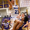 3-11-17<br /> Tipton vs New Haven boys basketball regional semifinal<br /> Sam Gutierrez shoots.<br /> Kelly Lafferty Gerber | Kokomo Tribune