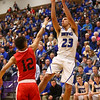 3-11-17<br /> Tipton vs FW Luers regional championship. Tipton lost 54-50 in double overtime.<br /> Sam Gutierrez shoots.<br /> Kelly Lafferty Gerber | Kokomo Tribune