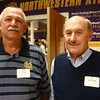 Bob Kiser, left, and Bill Keaffaber at the Northwestern High School Hall of Fame induction ceremony on March 10, 2017.<br /> Kelly Lafferty Gerber | Kokomo Tribune