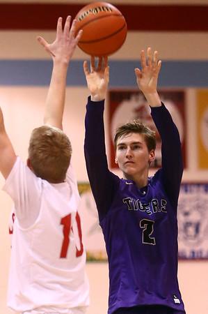 2-28-17<br /> Northwestern vs West Lafayette boys basketball<br /> Collin Hodson shoots.<br /> Kelly Lafferty Gerber | Kokomo Tribune