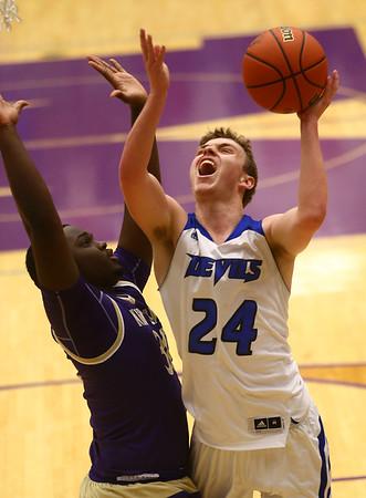 3-11-17<br /> Tipton vs New Haven boys basketball regional semifinal<br /> Tipton's Carson Dolezal shoots.<br /> Kelly Lafferty Gerber | Kokomo Tribune