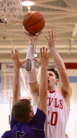 2-28-17<br /> Northwestern vs West Lafayette boys basketball<br /> WL's Luke Touloukian shoots.<br /> Kelly Lafferty Gerber   Kokomo Tribune