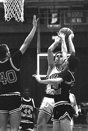 File photo of Matt Waddell playing basketball for Tipton HS on February 23, 1990, against Western HS.
