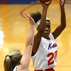3-9-17<br /> 8th grade girls basketball<br /> Kokomo Red's Shimani Forte puts up a shot.<br /> Kelly Lafferty Gerber | Kokomo Tribune