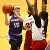 3-9-17<br /> 8th grade girls basketball<br /> NW's Jena Loer shoots.<br /> Kelly Lafferty Gerber | Kokomo Tribune