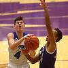 3-11-17<br /> Tipton vs New Haven boys basketball regional semifinal<br /> Tipton's Lukas Swan goes for a shot.<br /> Kelly Lafferty Gerber | Kokomo Tribune