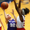 3-9-17<br /> 8th grade girls basketball<br /> NW's Ashlynn Bammerlin puts up a shot.<br /> Kelly Lafferty Gerber | Kokomo Tribune