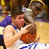 3-11-17<br /> Tipton vs New Haven boys basketball regional semifinal<br /> Tipton's Kellen Woods and New Haven's James Gardner go after a loose ball.<br /> Kelly Lafferty Gerber | Kokomo Tribune