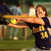 5-30-17<br /> Northwestern vs South Bend Saint Joseph<br /> Crystal Metz pitches.<br /> Kelly Lafferty Gerber | Kokomo Tribune
