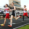 5-11-17<br /> Kokomo track and field<br /> Corey Dea, left, in the 1600.<br /> Kelly Lafferty Gerber | Kokomo Tribune