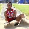 5-16-17<br /> Girls track sectional<br /> Tionna Brown in the long jump.<br /> Kelly Lafferty Gerber | Kokomo Tribune