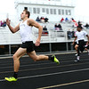 5-3-17<br /> WHS vs NWHS track<br /> Western's Nick Hackler in the 400 dash.<br /> Kelly Lafferty Gerber | Kokomo Tribune