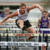 5-3-17<br /> WHS vs NWHS track<br /> Western's Mike Duke in the hurdles.<br /> Kelly Lafferty Gerber | Kokomo Tribune