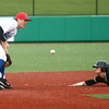5-2-17<br /> Kokomo vs Zionsville baseball<br /> Zionsville's Riley Bertram gets to second safely before Bayden Root can tag him out.<br /> Kelly Lafferty Gerber | Kokomo Tribune