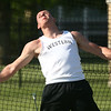5-18-17<br /> Boys track and field<br /> Western's Tyler Gilbert in the discus.<br /> Kelly Lafferty Gerber | Kokomo Tribune