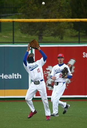 5-2-17<br /> Kokomo vs Zionsville baseball<br /> Perry McCullum makes the catch for an out.<br /> Kelly Lafferty Gerber | Kokomo Tribune