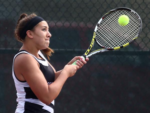5-19-17<br /> Girls tennis sectional championship<br /> Western 1 Abigail Moreno<br /> Kelly Lafferty Gerber   Kokomo Tribune