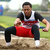 5-11-17<br /> Kokomo track and field<br /> Chris Thomas in the long jump.<br /> Kelly Lafferty Gerber | Kokomo Tribune