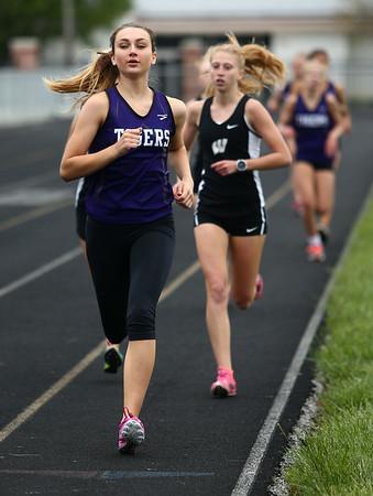 5-3-17<br /> WHS vs NWHS track<br /> NW's Lauryn Fackler in the 800.<br /> Kelly Lafferty Gerber | Kokomo Tribune