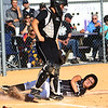 Softball sectional between Western HS and Peru HS on May 20, 2017. Peru's Ellyn Badry slides into home for Peru's one and only run.<br /> Tim Bath | Kokomo Tribune