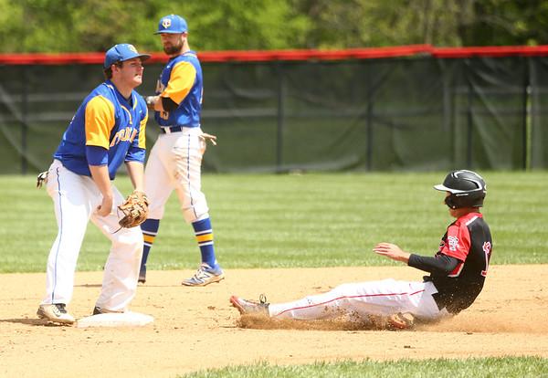 5-6-17<br /> Taylor vs TC baseball<br /> Cole Braun slides safely to second.<br /> Kelly Lafferty Gerber   Kokomo Tribune