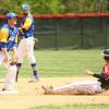 5-6-17<br /> Taylor vs TC baseball<br /> Cole Braun slides safely to second.<br /> Kelly Lafferty Gerber | Kokomo Tribune
