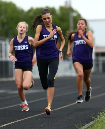 5-3-17<br /> WHS vs NWHS track<br /> NW's Kate Bilkey in the 1600.<br /> Kelly Lafferty Gerber | Kokomo Tribune