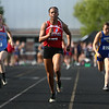 5-16-17<br /> Girls track sectional<br /> Tionna Brown in the 100 meter dash.<br /> Kelly Lafferty Gerber | Kokomo Tribune