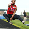 5-11-17<br /> Kokomo track and field<br /> Tionna Brown in the long jump.<br /> Kelly Lafferty Gerber | Kokomo Tribune