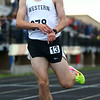 5-25-17<br /> Boys track and field regional<br /> Western's Josh Everetts is all smiles after winning the 1600.<br /> Kelly Lafferty Gerber | Kokomo Tribune