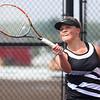 5-19-17<br /> Girls tennis sectional championship<br /> Western 2 singles Brooke Jansen.<br /> Kelly Lafferty Gerber | Kokomo Tribune