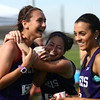5-16-17<br /> Girls track sectional<br /> Northwestern celebrates after winning the 4x800 relay.<br /> Kelly Lafferty Gerber | Kokomo Tribune