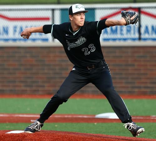 5-2-17<br /> Kokomo vs Zionsville baseball<br /> Max Bohrer pitches.<br /> Kelly Lafferty Gerber | Kokomo Tribune