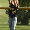 5-23-17<br /> Northwestern vs Western softball<br /> NW's Madison Walker makes the catch for an out.<br /> Kelly Lafferty Gerber | Kokomo Tribune