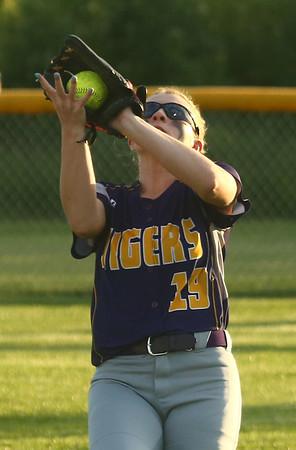 5-30-17<br /> Northwestern vs South Bend Saint Joseph<br /> Kayla Fogle makes the catch for an out.<br /> Kelly Lafferty Gerber   Kokomo Tribune