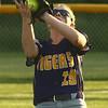 5-30-17<br /> Northwestern vs South Bend Saint Joseph<br /> Kayla Fogle makes the catch for an out.<br /> Kelly Lafferty Gerber | Kokomo Tribune