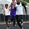 5-3-17<br /> WHS vs NWHS track<br /> Western's Zhe'Don Beard in the 100 m dash.<br /> Kelly Lafferty Gerber | Kokomo Tribune
