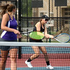 5-17-17<br /> Girls tennis sectional<br /> Northwestern 1 doubles Lauren Miller, right, and Kendall Bostic<br /> Kelly Lafferty Gerber | Kokomo Tribune