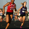 5-16-17<br /> Girls track sectional<br /> Tionna Brown in the 400 meter dash.<br /> Kelly Lafferty Gerber | Kokomo Tribune